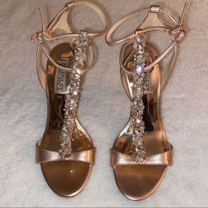 Badgley Mischka Jeweled Stilettos | Size 5